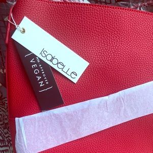NWT Isabelle Handbag - Red Faux Leather crossbody